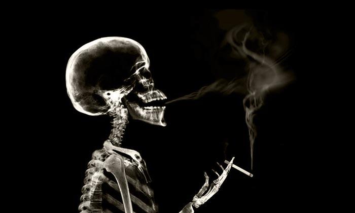 Через сколько лет курения развивается рак